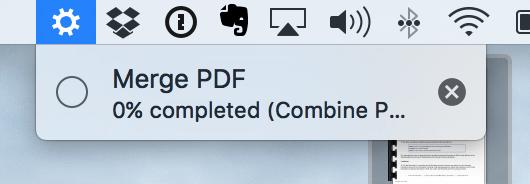 merge pdf automator progress