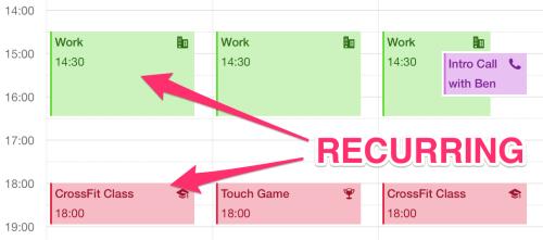 calendar recurring events