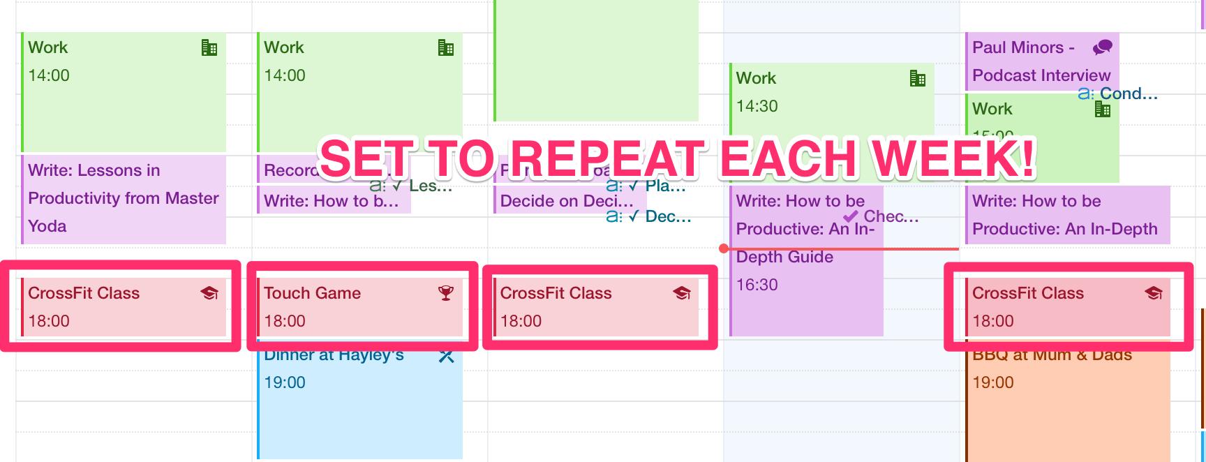 schedule exercise