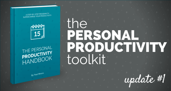 The Personal Productivity Handbook Update 1 V4