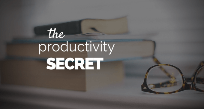 the productivity secret
