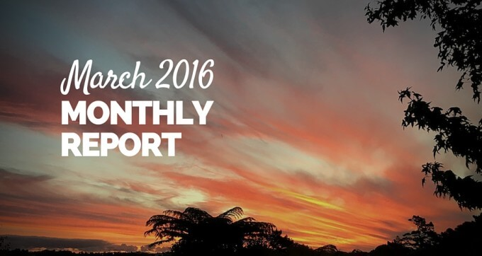 march 2016 monthly report