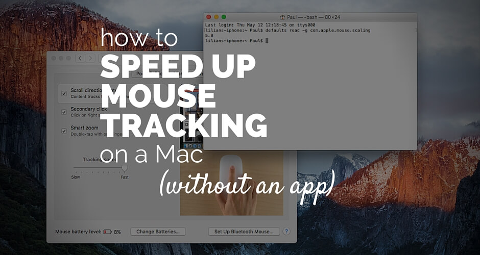 How to speed up mouse tracking on a Mac (without an app)