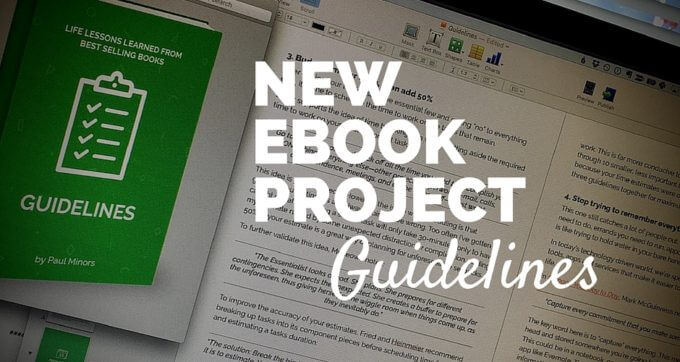 new ebook project guidelines