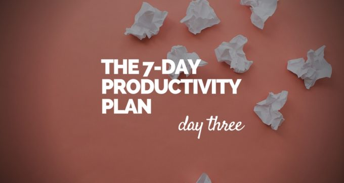 7-Day Productivity Plan - 3
