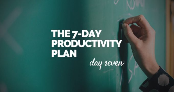 7-Day Productivity Plan - 7