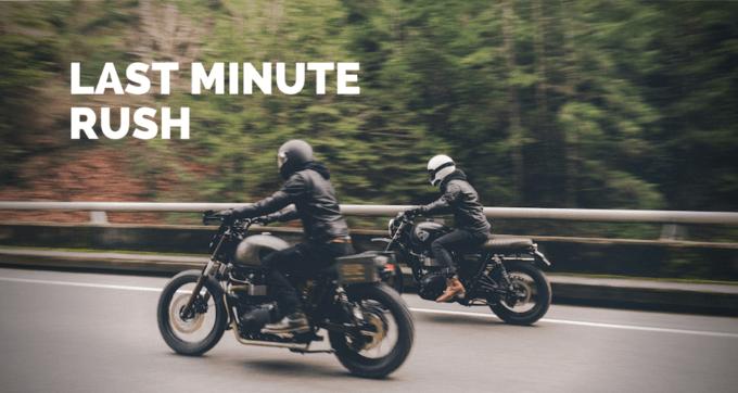 last minute rush