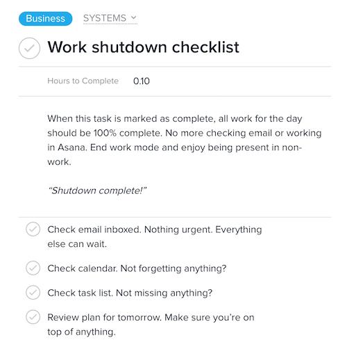 shutdown task