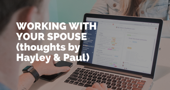 what it's like to work with your spouse