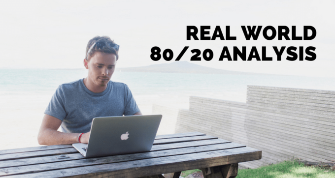 real world 80 20 analysis