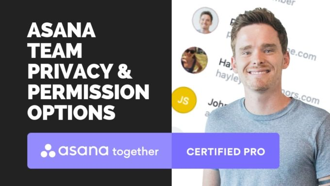 asana team and project privacy and persmissions