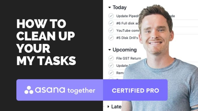 how to clean up mytasks in asana