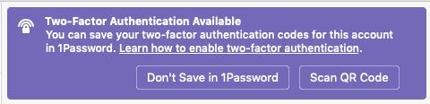 1password 2fa