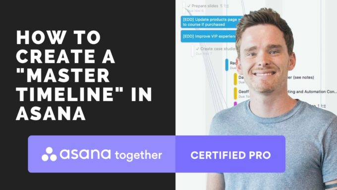 How to create a master timeline in Asana