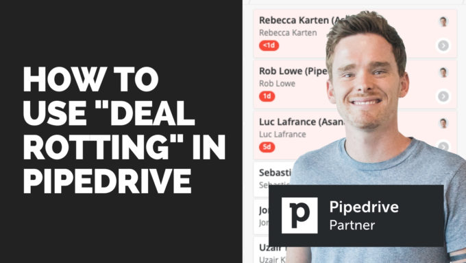 Using the Pipedrive deal rotting feature