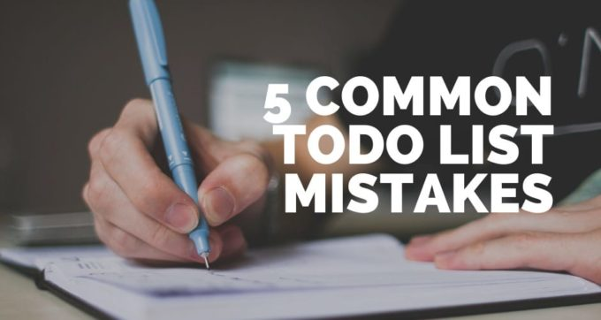 5 common todo list mistakes