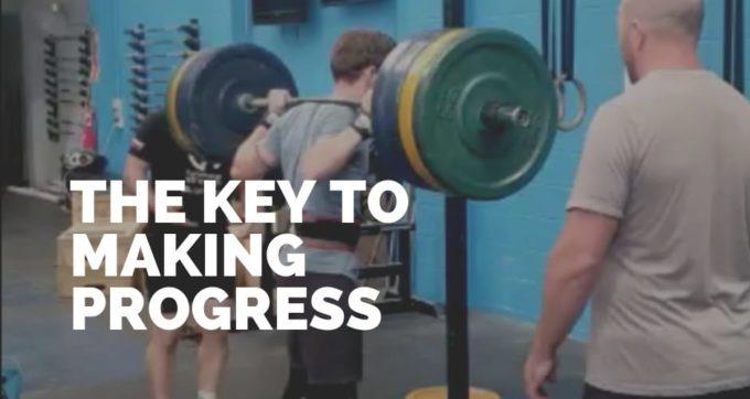they key to making progress