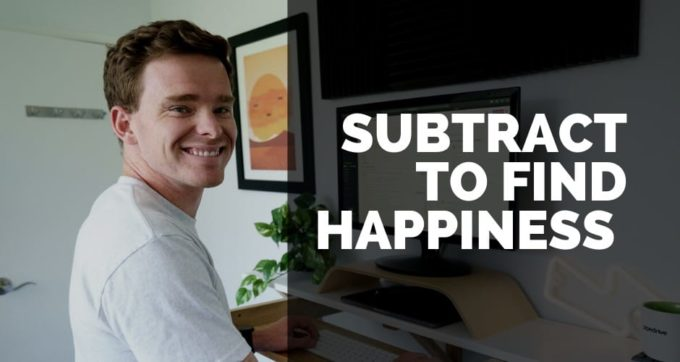 subtract to find happiness