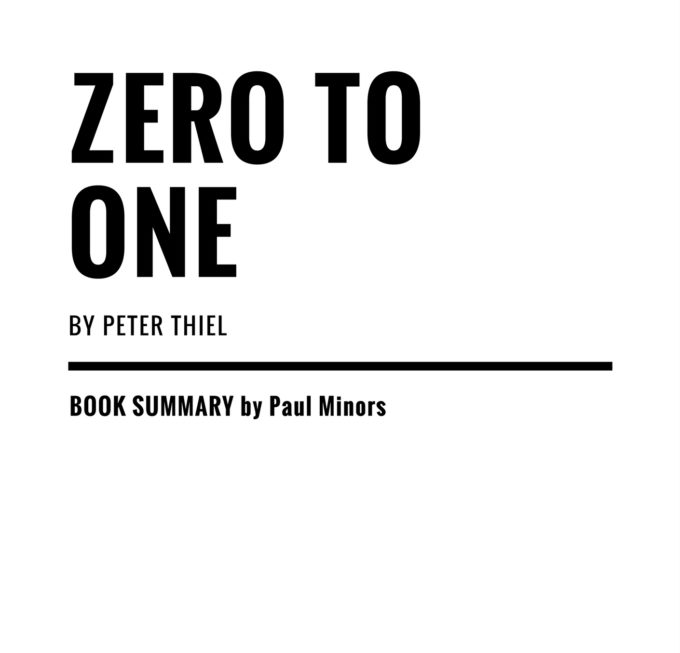 Book summary archives page 8 of 9 paul minors zero to one summary zero to one by peter thiel is a malvernweather Image collections